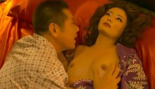 【原田夏希】映画「極道の妻たち Neo」よりおっぱい丸出しで今井雅之との濡れ場シーン