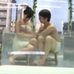【マジックミラー号】バイト先の先輩とMM号の中で一緒にお風呂に入ったらその気になっちゃいましたw