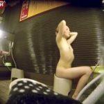 【女湯盗撮】スーパー銭湯の洗い場で貧乳だけど綺麗なお姉さんを徹底隠し撮り!