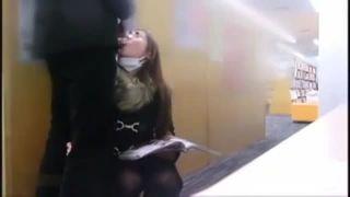 【個人撮影】本屋の死角でのフェラからのトイレでの生挿入で口内発射!