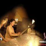 【女湯盗撮】とある温泉の女湯洗い場を隠し穴から隠し撮り!ぽっちゃりが多いですw