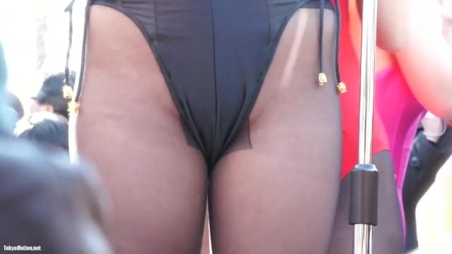 【パンチラ盗撮】コスプレアイドル撮影会でハイレグレオタードの股間を集中撮影w
